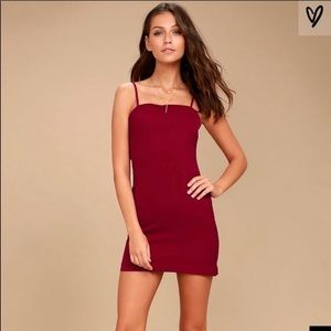 Lulu's toast to life red mini dress